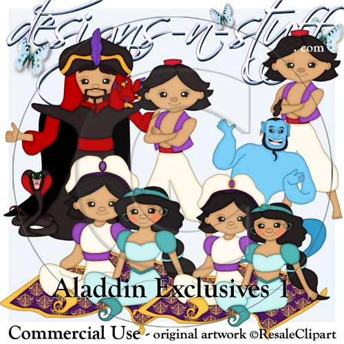 Aladdin Clipart Exclusives 1