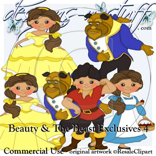 Beauty And The Beast Clipart Exclusives 4