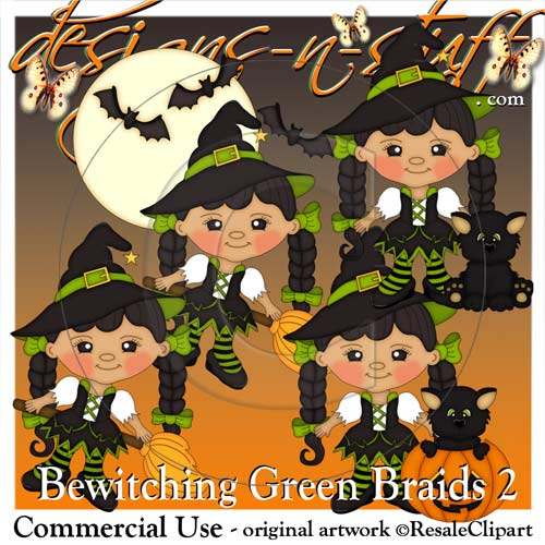 Bewitching Green Braids 2
