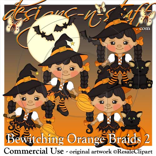 Bewitching Orange Braids 2 Resell