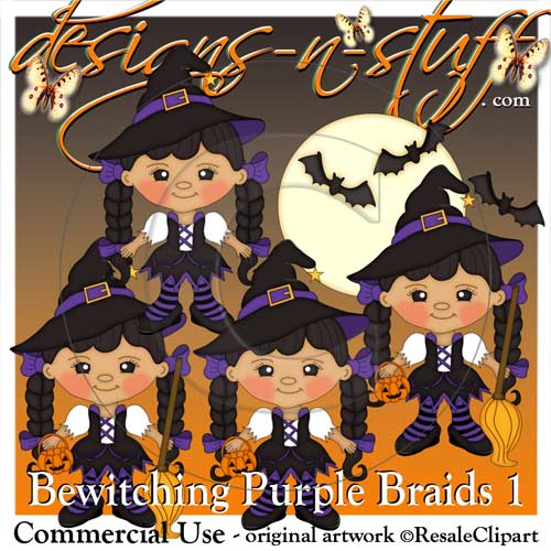 Bewitching Purple Braids 1 Resell