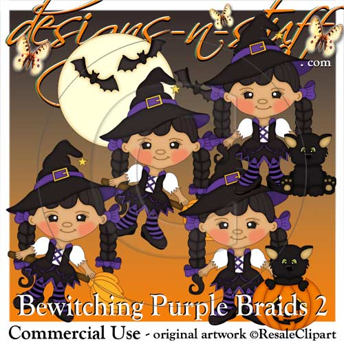 Bewitching Purple Braids 2 Resell