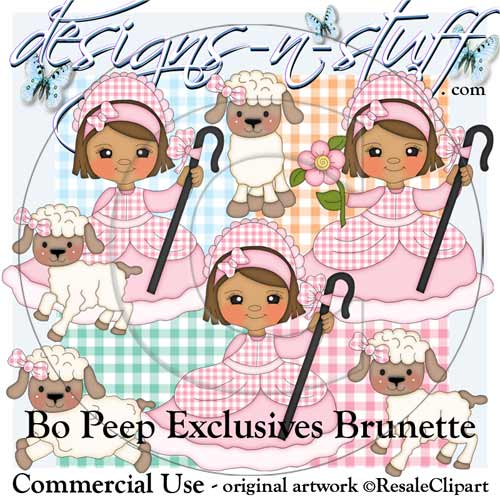 Bo Peep Clipart Exclusives Brunette - Click Image to Close