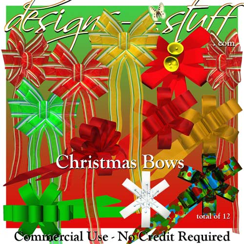 Christmas Bows CU - Click Image to Close