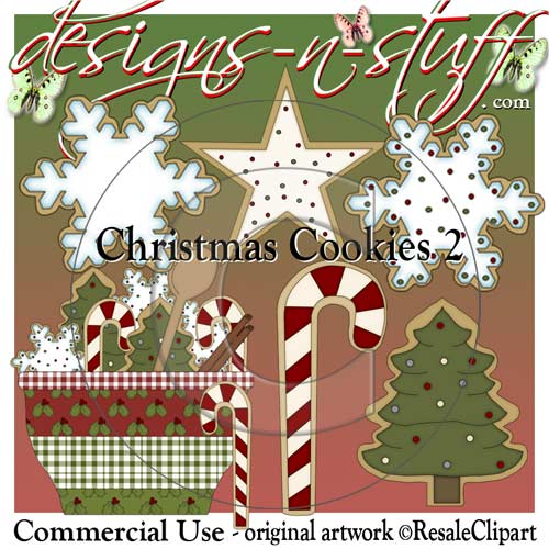 Christmas Cookies 2 CU - Click Image to Close