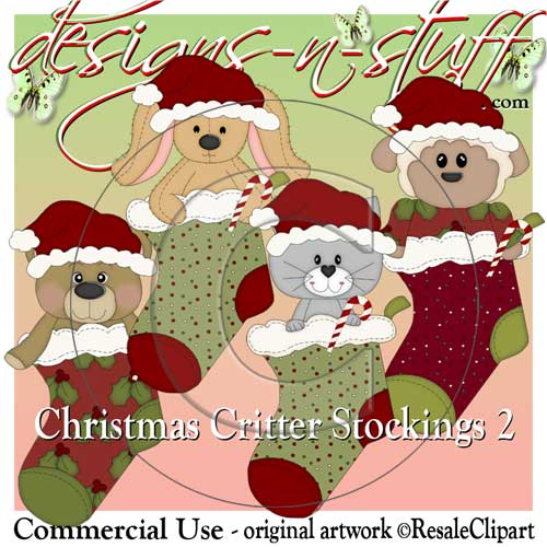 Christmas Critter Stockings 2 CU