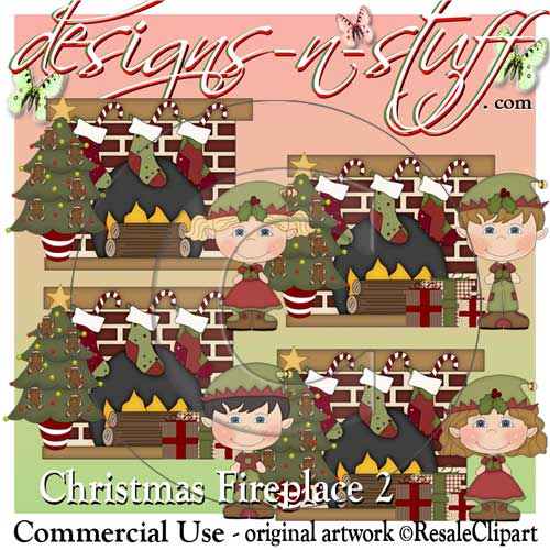 Christmas Fireplaces 2 CU