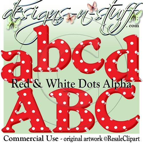 Christmas Red and White Dots Alpha CU