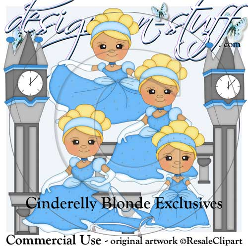 Cinderelly Blonde Clipart Exclusives