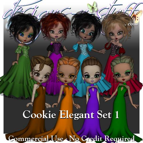 Cookie Poser Elegant Set 1 CU