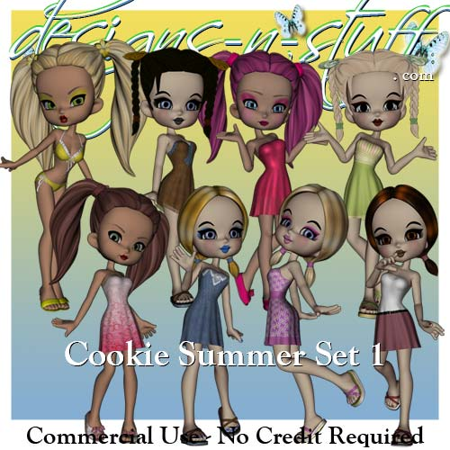Cookie Poser Summer Set 1 CU
