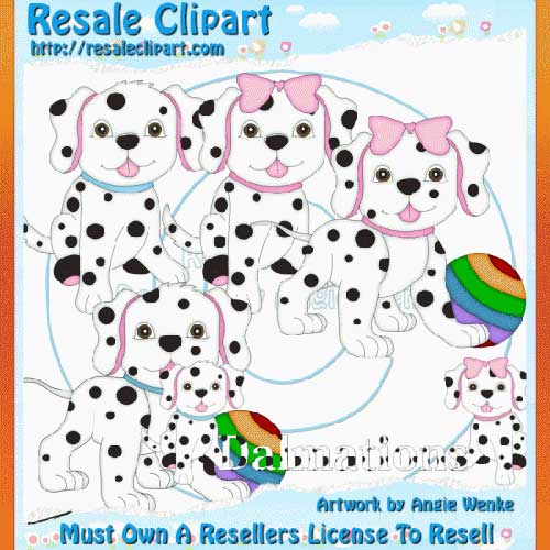 Dalmations Clipart Exclusives 1
