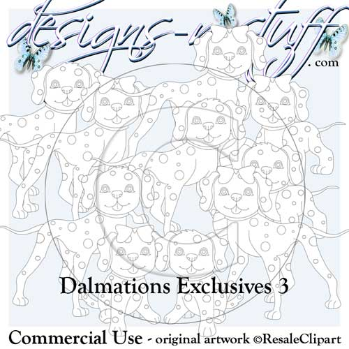 Dalmations Digital Stamps Exclusives 3