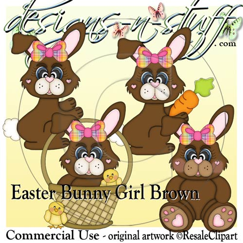 Easter Bunny Girl Brown CU