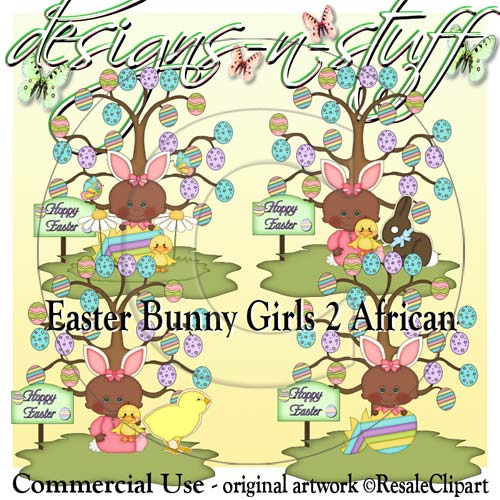 Easter Bunny Girls African 2 CU