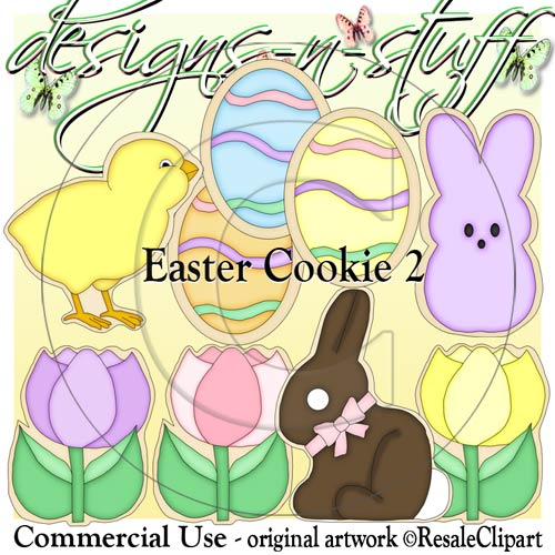 Easter Cookie 2 CU - Click Image to Close