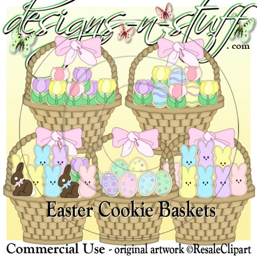 Easter Cookie Baskets CU
