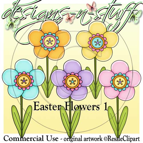 Easter Flowers 1 CU - Click Image to Close