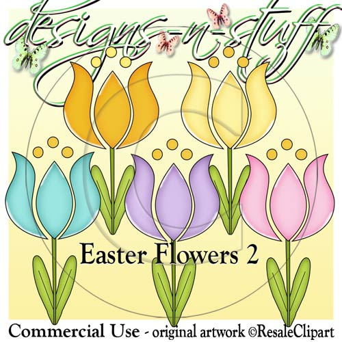 Easter Flowers 2 CU - Click Image to Close