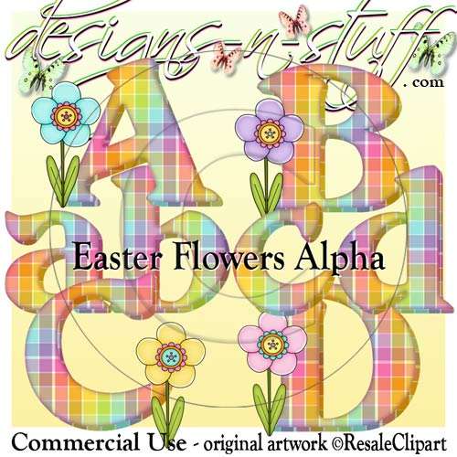 Easter Flowers Alpha CU - Click Image to Close