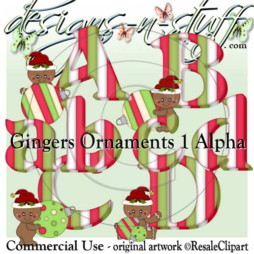 Gingers Ornaments 1 Alpha CU