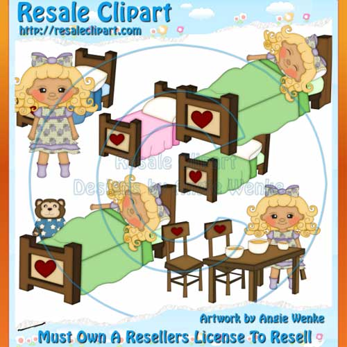 Goldilocks & Three Bears Clipart Exclusives 3