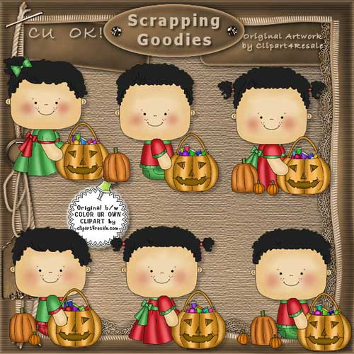 Halloween Toddlers 1 03 CU - Click Image to Close