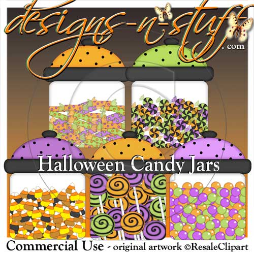 Halloween Candy Jars - Click Image to Close