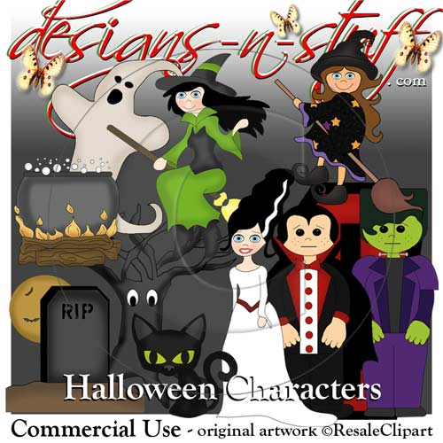 Halloween Characters - Click Image to Close