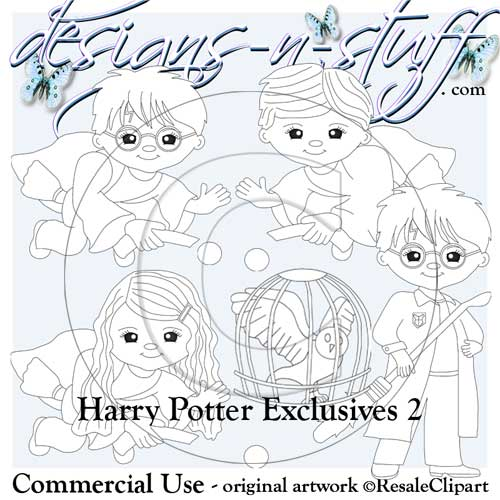 Wizard School Digital Stamps Exclusives 2 - Click Image to Close