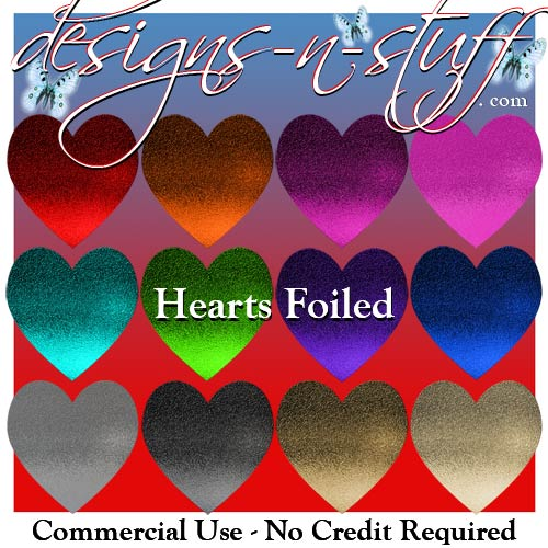 Hearts Foiled