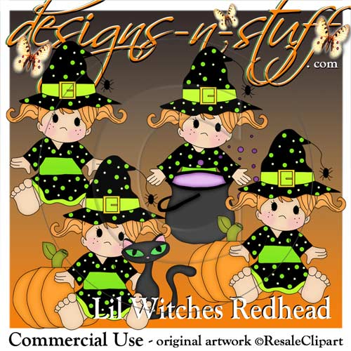 Lil Witches Redhead