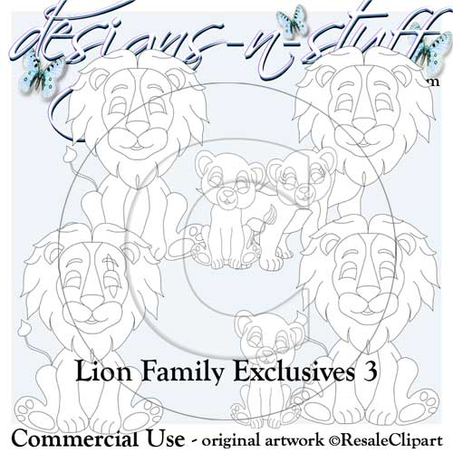 Lion Family Digital Stamps Exclusives 3