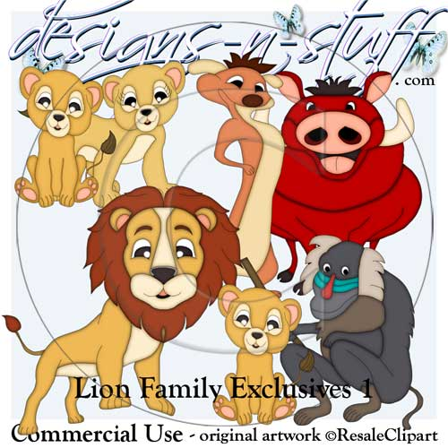 Lion Family Clipart Exclusives 1