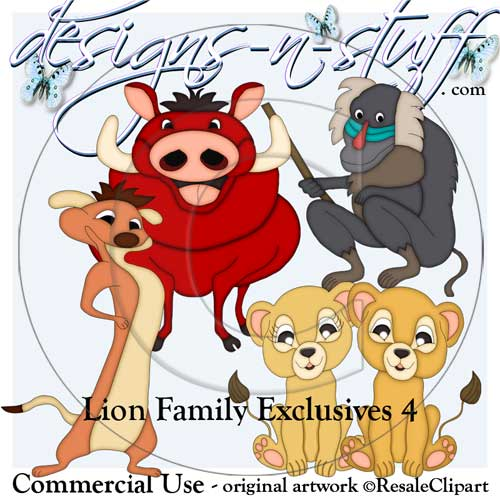 Lion Family Clipart Exclusives 4