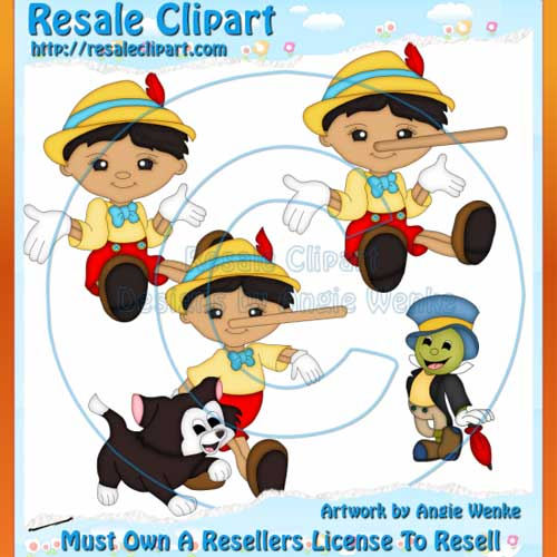 Pinocchio Clipart Exclusives 1