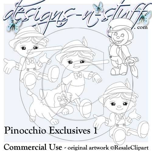 Pinocchio Digital Stamps Exclusives 1