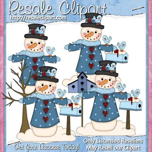 Prim Snowman 3 CU - Click Image to Close
