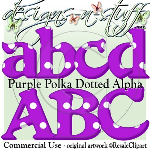 Purple Polka Dotted Alpha CU