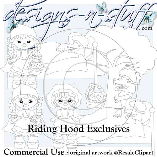 Riding Hood Digital Stamps Exclusives