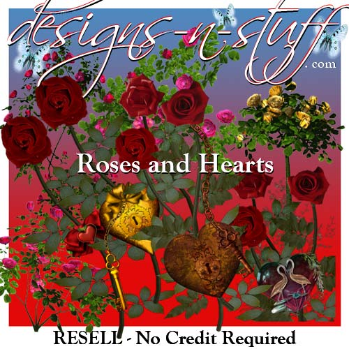 Roses and Hearts - Resell