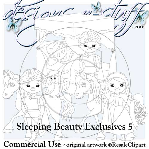 Sleeping Beauty Digital Stamps Exclusives 5