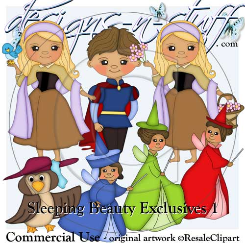Sleeping Beauty Clipart Exclusives 1