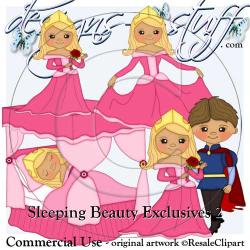 Sleeping Beauty Clipart Exclusives 2