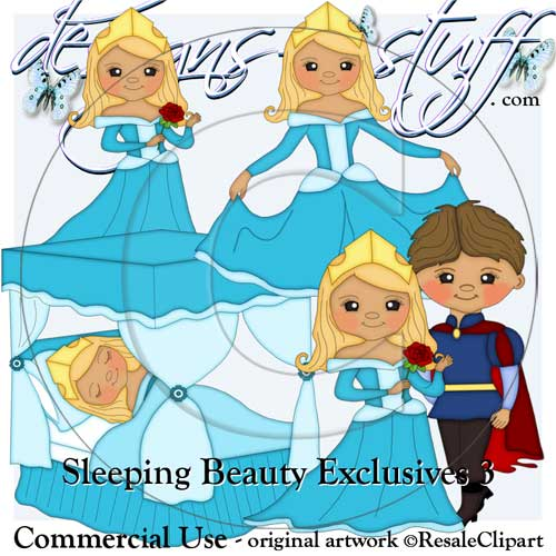 Sleeping Beauty Clipart Exclusives 3