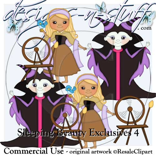 Sleeping Beauty Clipart Exclusives 4