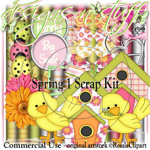 Spring 1 Scrap Kit CU - Click Image to Close