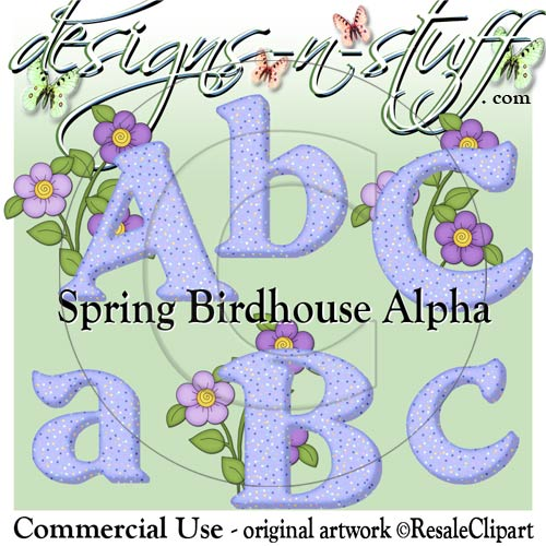 Spring Birdhouse Purple Alpha CU