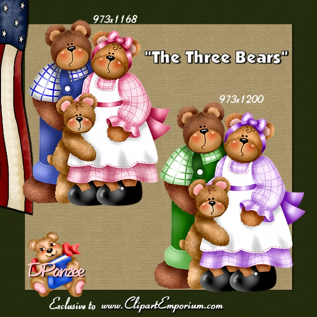 The Three Bears CU - Click Image to Close