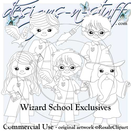 Wizard School Digital Stamps Exclusives 1